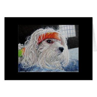 Cartão Punk do filhote de cachorro