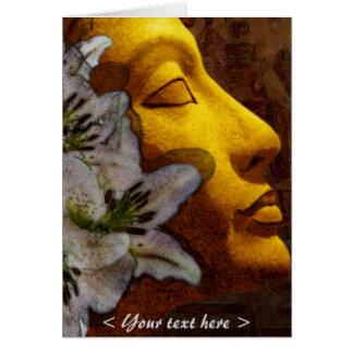 Cartão pureza do nefertiti e beleza (cartão)