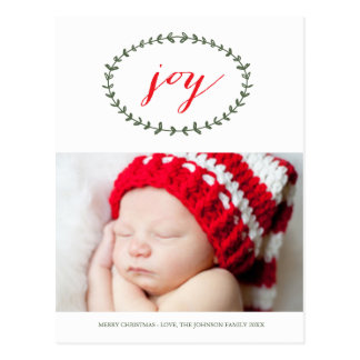Cartão puro do feriado da alegria cartão postal
