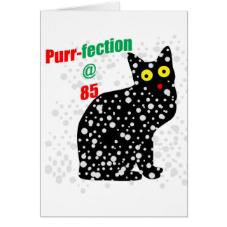 Cartão Purr-fection do gato da neve 85
