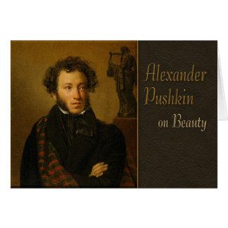 Cartão Pushkin na poesia da beleza CC0338
