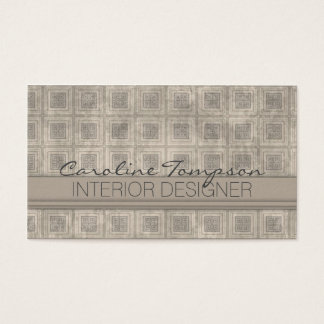 Cartão quadrado cinzento do designer de interiores