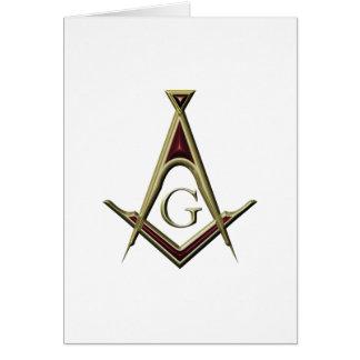 Cartão Quadrado & compasso maçónicos