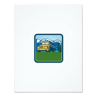 Cartão Quadrado das montanhas do cacto do auto escolar