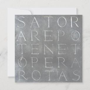 Cartão quadrado das rotas de Sator