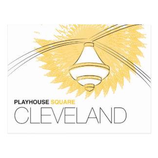 Cartão quadrado de Cleveland do teatro