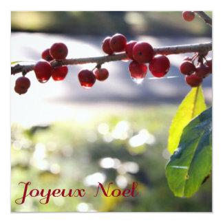 Cartão quadrado de Joyeux Noel