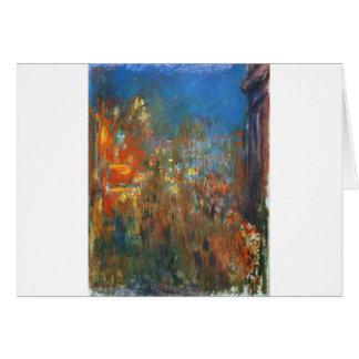 Cartão Quadrado de Leicester na noite por Claude Monet