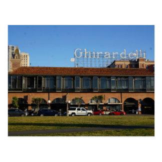 Cartão quadrado de San Francisco Ghirardelli