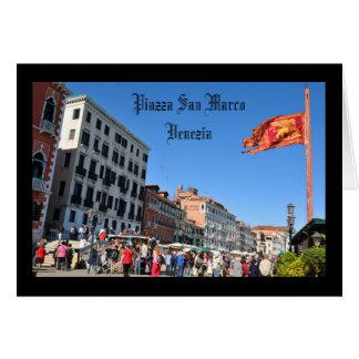 Cartão Quadrado de San Marco em Veneza, Italia