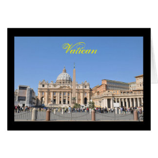 Cartão Quadrado de San Pietro no vaticano, Roma, Italia