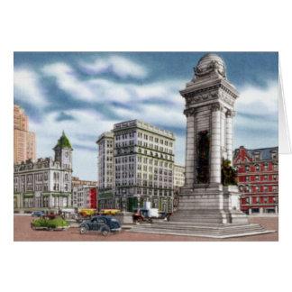 Cartão Quadrado de Siracusa New York Clinton