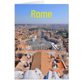 Cartão Quadrado de St Peter no vaticano, Roma, Italia