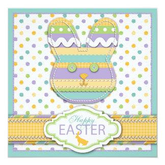 Cartão quadrado do coelho convites