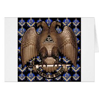 Cartão Quadrado do rito & preto escoceses do compasso