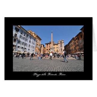 Cartão Quadrado em Roma, Italia