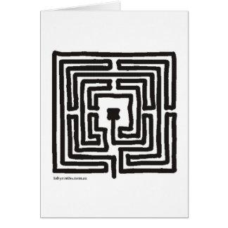 Cartão quadrado pequeno medieval do labirinto