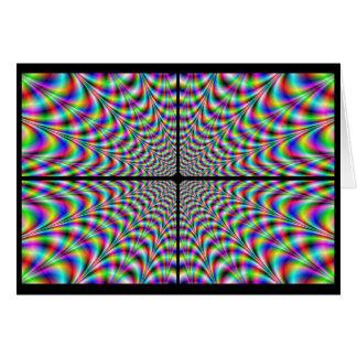 Cartão quadrantes do caos (ilusão óptica)