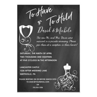 Cartão Quadro após/convite festa de casamento do cargo