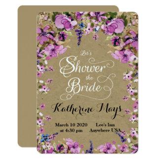 Cartão Quadro Bachelorette do Wildflower