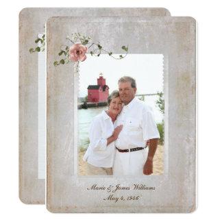 Cartão quadro da foto da textura e buquê cor-de-rosa