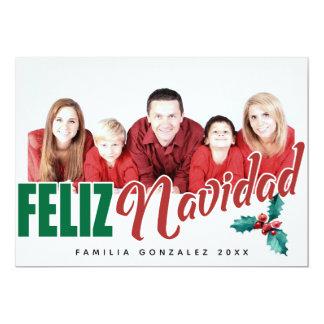 Cartão Quadro da foto de Feliz Navidad