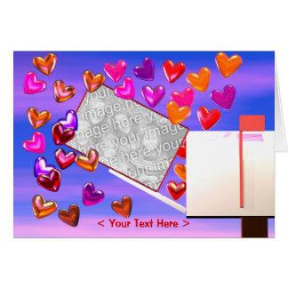 Cartão Quadro da foto do correio do coração