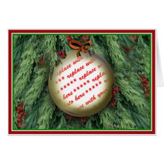 Cartão Quadro da foto do ornamento da árvore de Natal