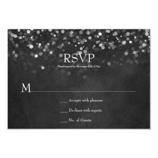 Cartão Quadro das luzes feericamente que Wedding RSVPs