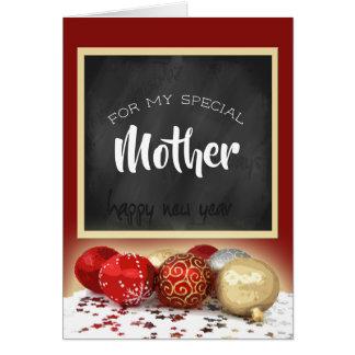 Cartão Quadro e ornamento da mãe do Feliz Natal