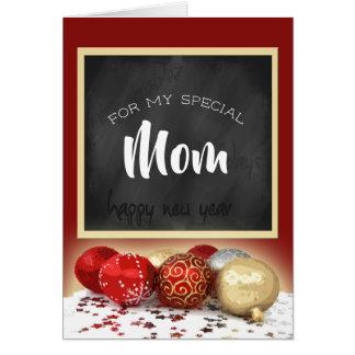 Cartão Quadro e ornamento da mamã do Feliz Natal