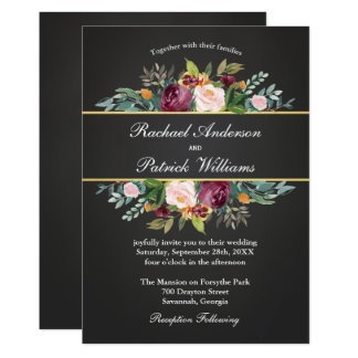 Cartão Quadro rústico e casamento floral