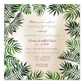 Cartão Quadro verde tropical das folhas de palma do