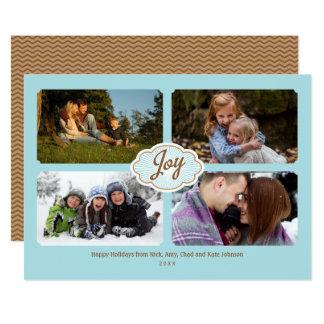 Cartão Quadros da foto do feriado 4 da alegria