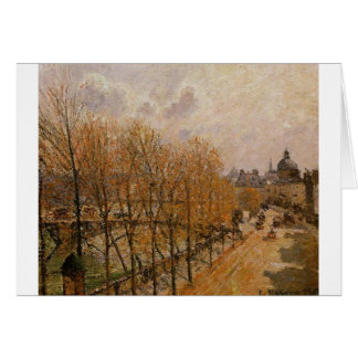 Cartão Quai Malaquais, manhã por Camille Pissarro