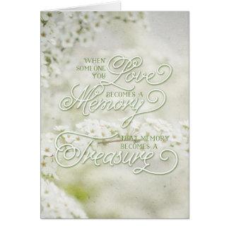Cartão Quando alguém que você ama torna-se uma memória