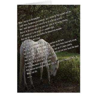 Cartão Quando eu for um Horsewoman idoso III