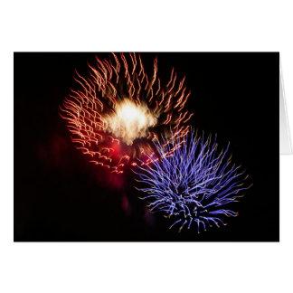 Cartão Quando eu me penso de você veja fogos-de-artifício