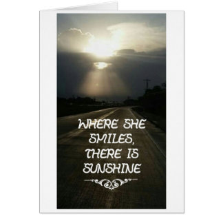 Cartão Quando sorrir