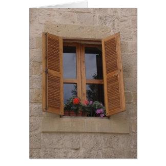 Cartão Quando uma porta se fecha uma janela abre