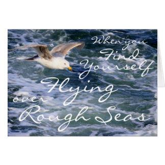 Cartão Quando você se encontrar voar sobre mares ásperos