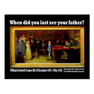 Cartão - 'quando você último viu seu pai?
