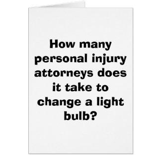 Cartão Quantos advogados dos ferimentos pessoais ele