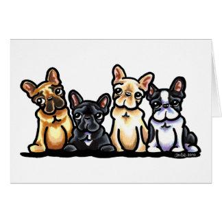 Cartão Quarteto do buldogue francês