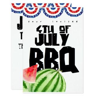 Cartão quarto do assado colorido de julho