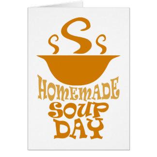 Cartão Quarto fevereiro - dia caseiro da sopa