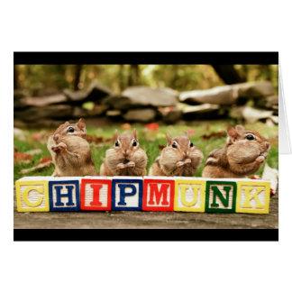 Cartão quatro chipmunks bonitos