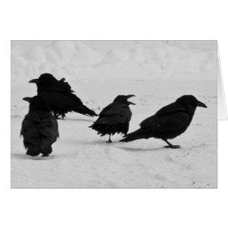 Cartão Quatro corvos