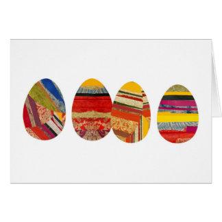 Cartão Quatro ovos para a páscoa