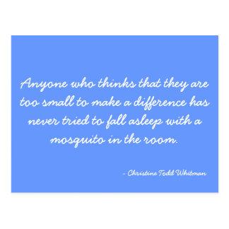 Cartão que cita Christine Todd Whitman